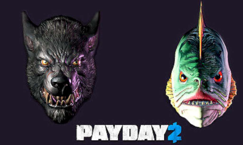 PAYDAY 2- Lycanwulf and The One Below Masks (Steam Key)