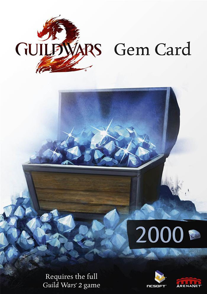 Guild Wars 2 GEMS Card 2000 EU/Region Free + СКИДКИ
