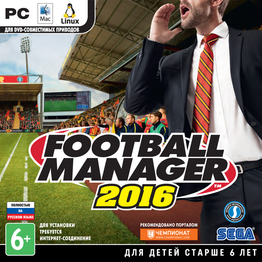 Football Manager 2016 (Steam key RU+CIS)