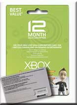 XboX LIVE Gold Card 12- month-WW (Worldwide) + Russia