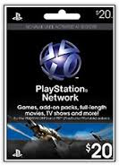20 Playstation Network Card