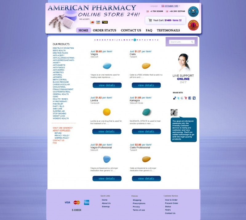Pharmacy, a unique design for the site pharmacy