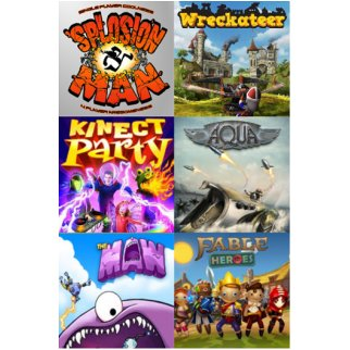 Xbox Live Bundle - 6 games for Xbox 360