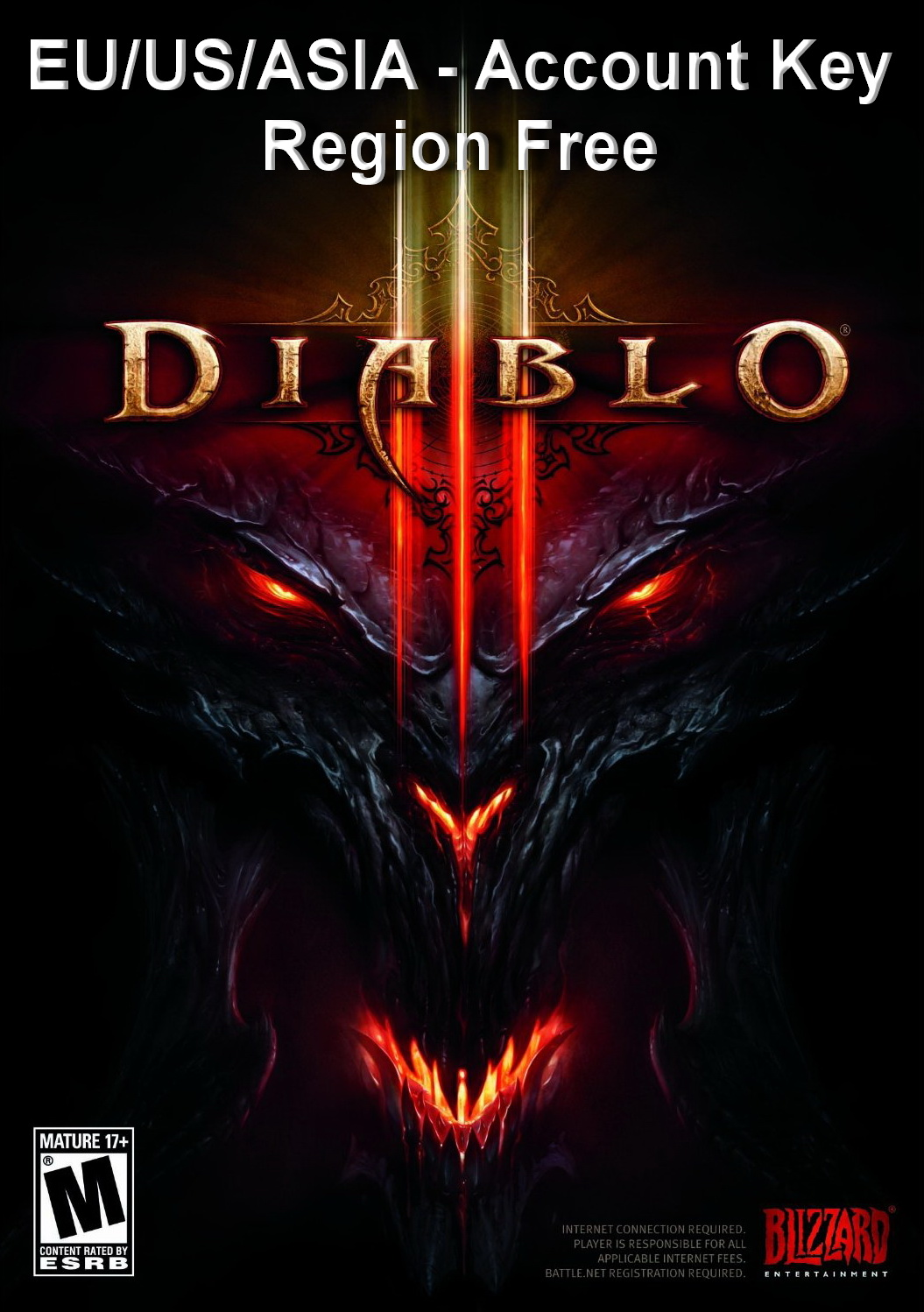 DIABLO 3 III ACCOUNT KEY (EU/US/ASIA/RU)