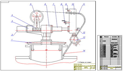 Drawing installation for welding cap (for tanks)