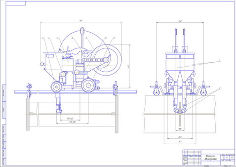Drawing machine for the twin-arc welding flux