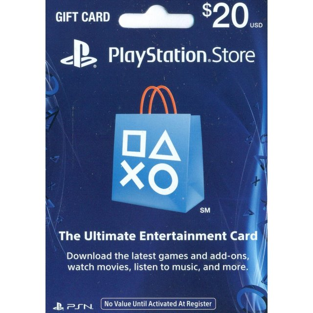 Playstation network 20$ (PSN) USA / (PHOTO,SCAN)