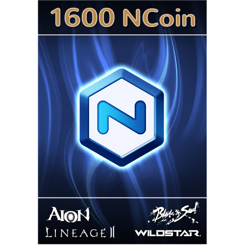 1600 Ncsoft Ncoin USA/Blade & Soul,Aion,Lineage,WildSta