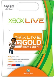 XBOX LIVE Gold Card 12 months only US SCAN discounts