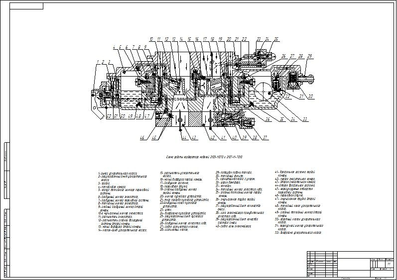 The circuit - drawing work carburetor VAZ models