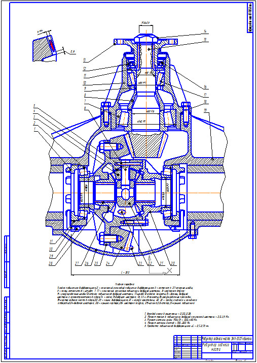 "Plans rear axle ZIL-5301 ""Bull"""
