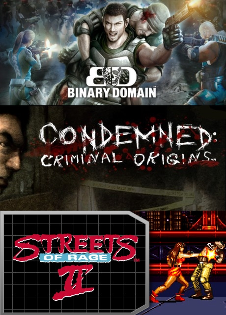 Binary Domain, Condemned, Streets of Rage 2 (steam key)