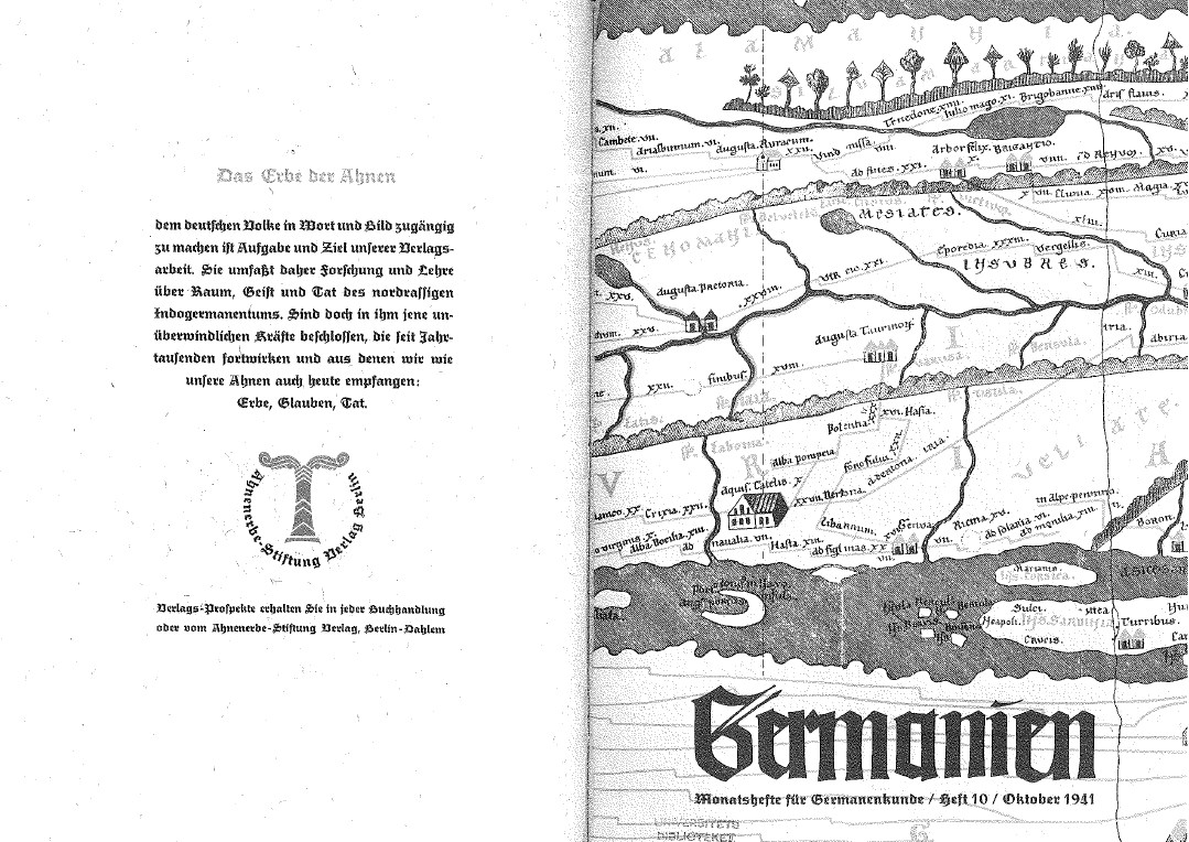German notebooks Ahnenerbe - archive of 1933-1944