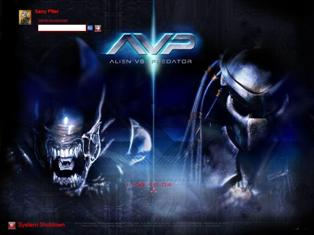 Welcome screen for Windows Alien 3