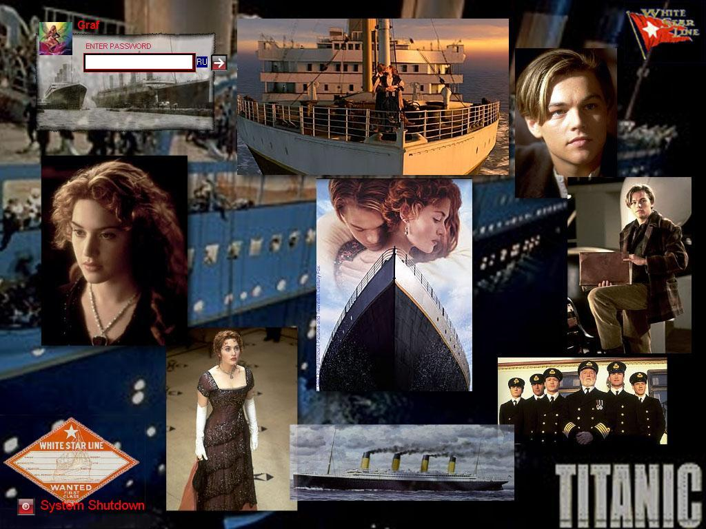 Welcome screen for Windows 7 Titanic
