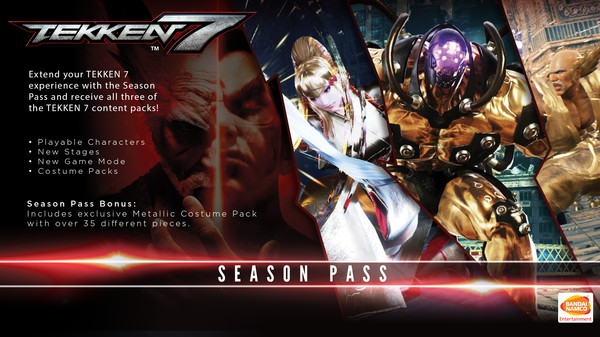 TEKKEN 7 Season Pass (Steam key) -- RU