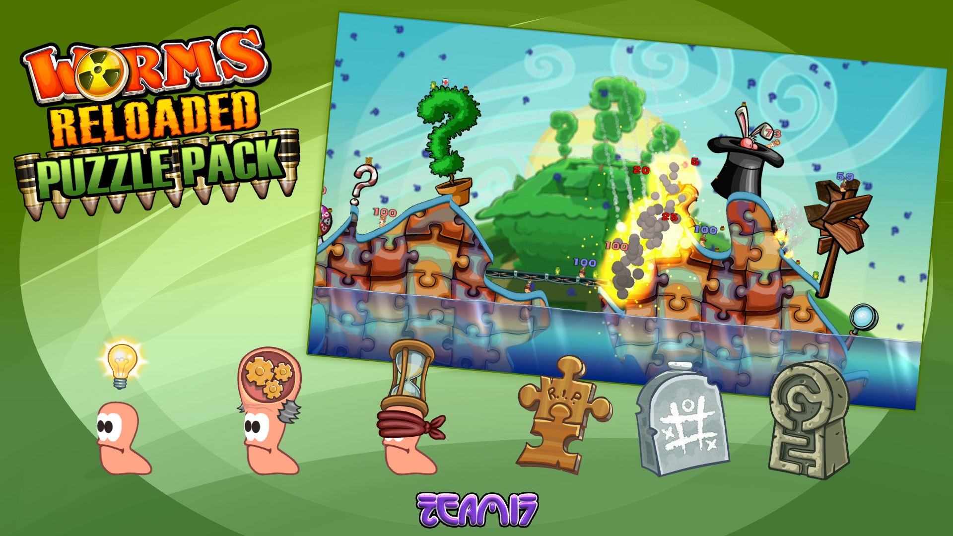 Worms Reloaded  Puzzle Pack (steam key) -- RU