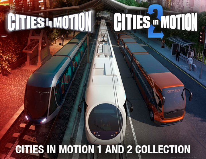 Cities in Motion 1 and 2 Collection (steam key) -- RU