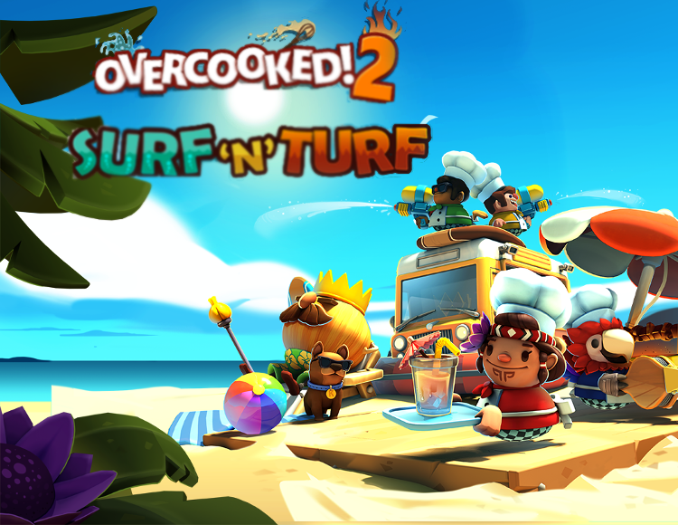 Overcooked 2  Surf n Turf (Steam key) -- Region free