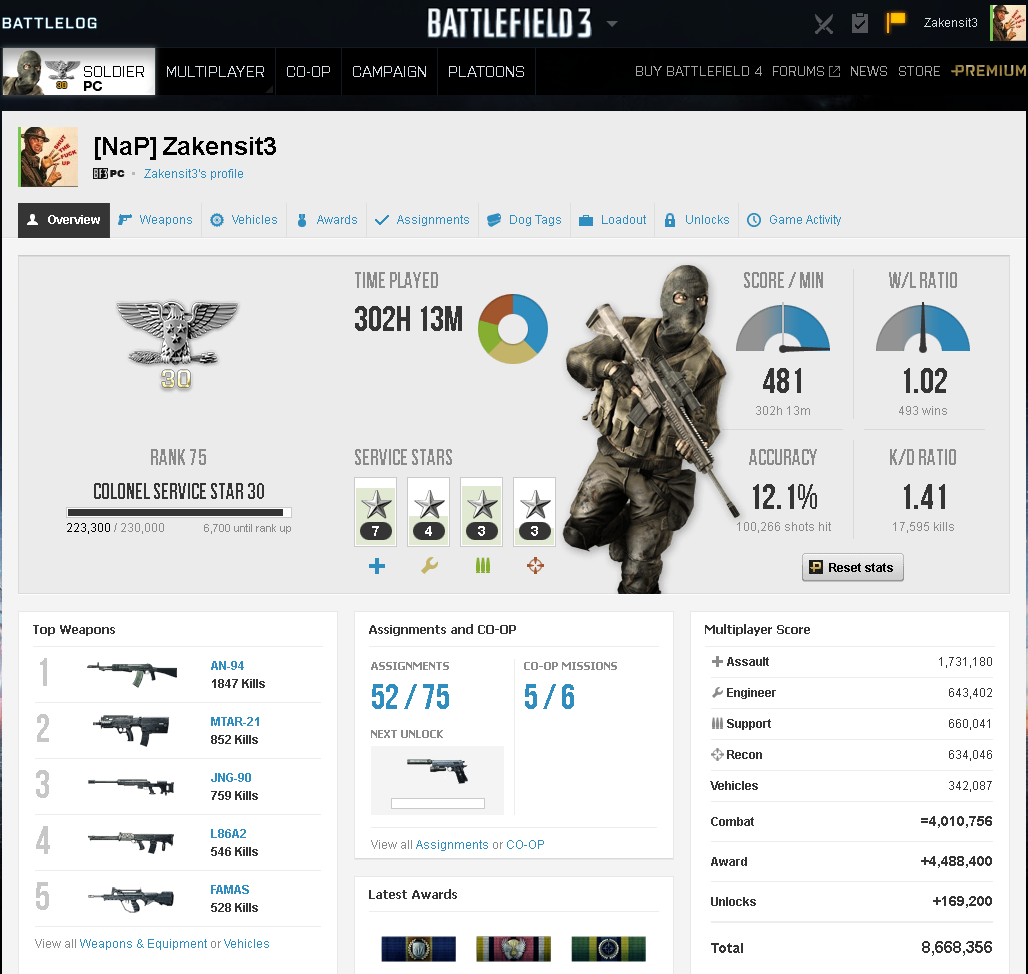 Battlefield 3 Premium edition RANK 77 (Origin account) 2019