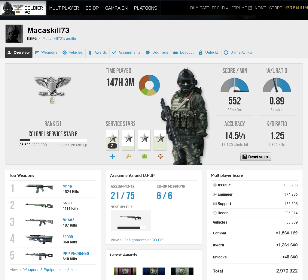 Battlefield 3 Premium edition RANK 51 (Origin account) 2019
