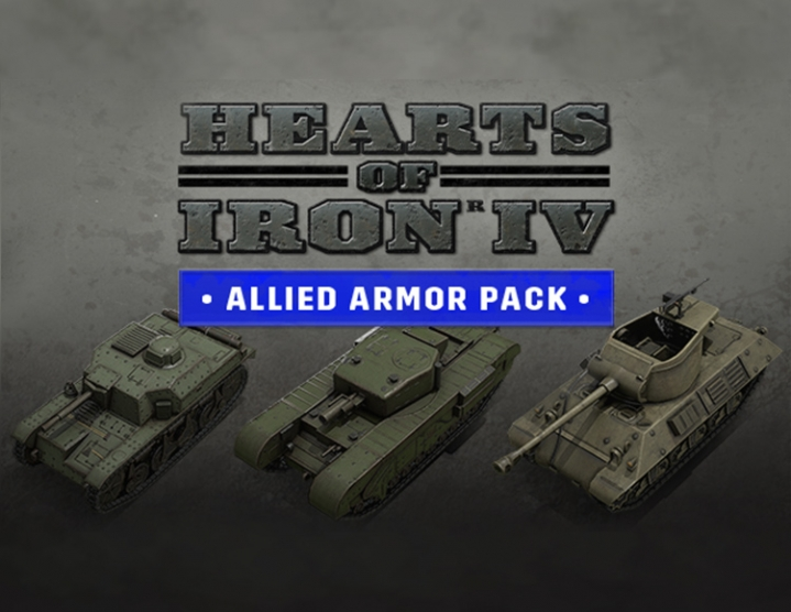 Hearts of Iron IV Allied Armor Pack (steam key) -- RU