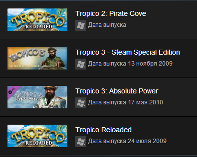 Tropico Trilogy ( Steam Key / Region Free )