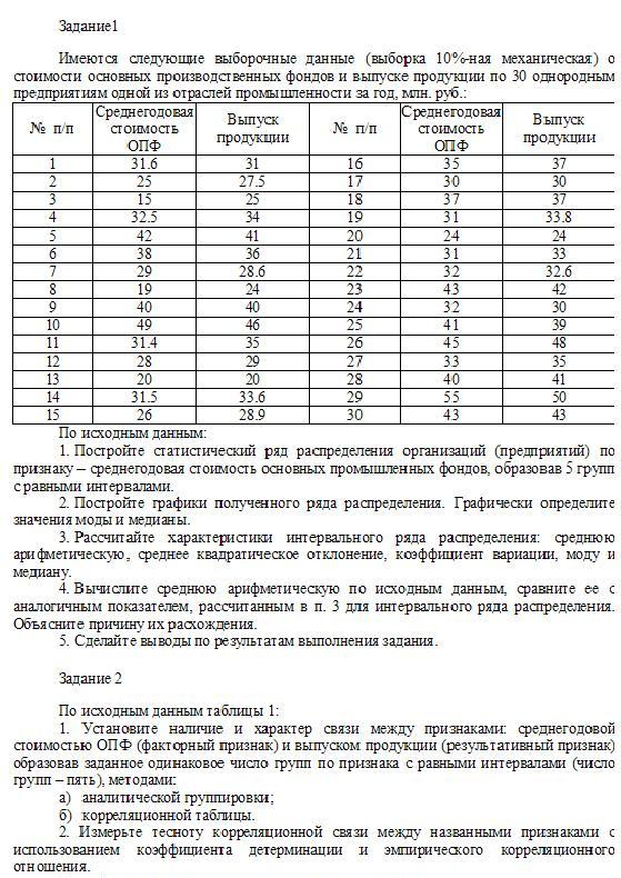 Examination of Statistics (Option 1)