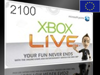 xBox Live! - EU+RU - 2100 MS Points Card