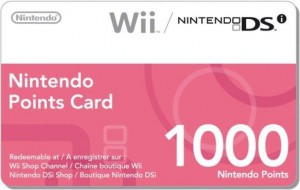 1000 Wii Points Card Европа