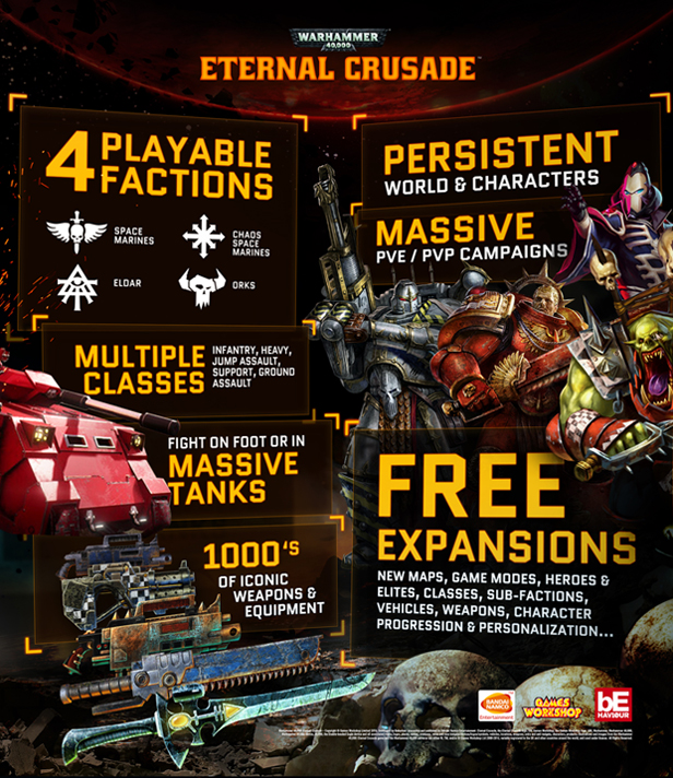 Warhammer 40,000: Eternal Crusade /STEAM KEY ROW