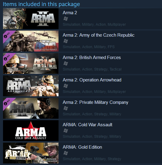 Arma X: Anniversary Edition STEAM KEY ROW + DayZ Mod