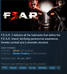 F.E.A.R. 3 STEAM KEY ROW/Region Free/BONUS
