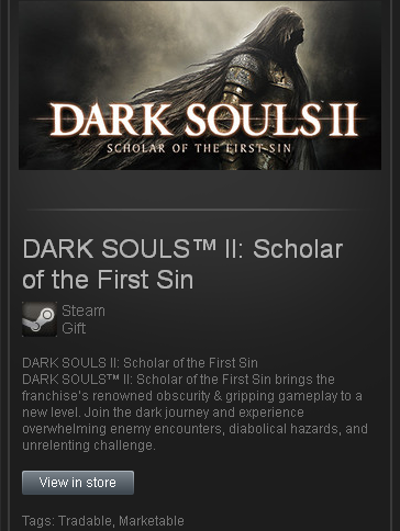 DS II Scholar of the First Sin - STEAM Gift Region Free