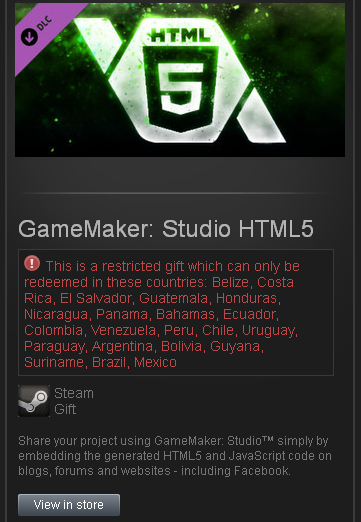 GameMaker: Studio HTML5 - DLC - STEAM Gift - region SA