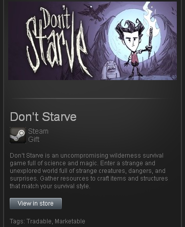 Dont Starve - STEAM Gift - Region Free / ROW / GLOBAL