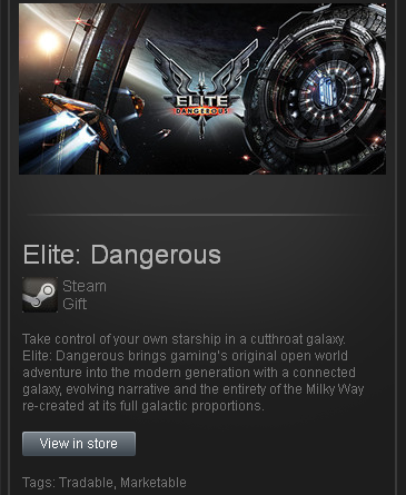 zzzz_Elite: Dangerous (ROW) - STEAM Gift - Region Free