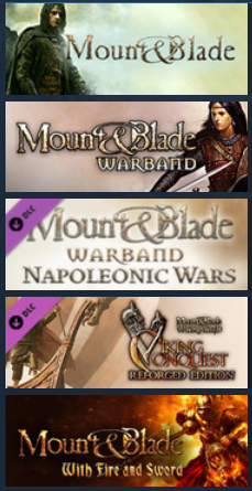 Mount and Blade Full Collection - Steam KEY region Free