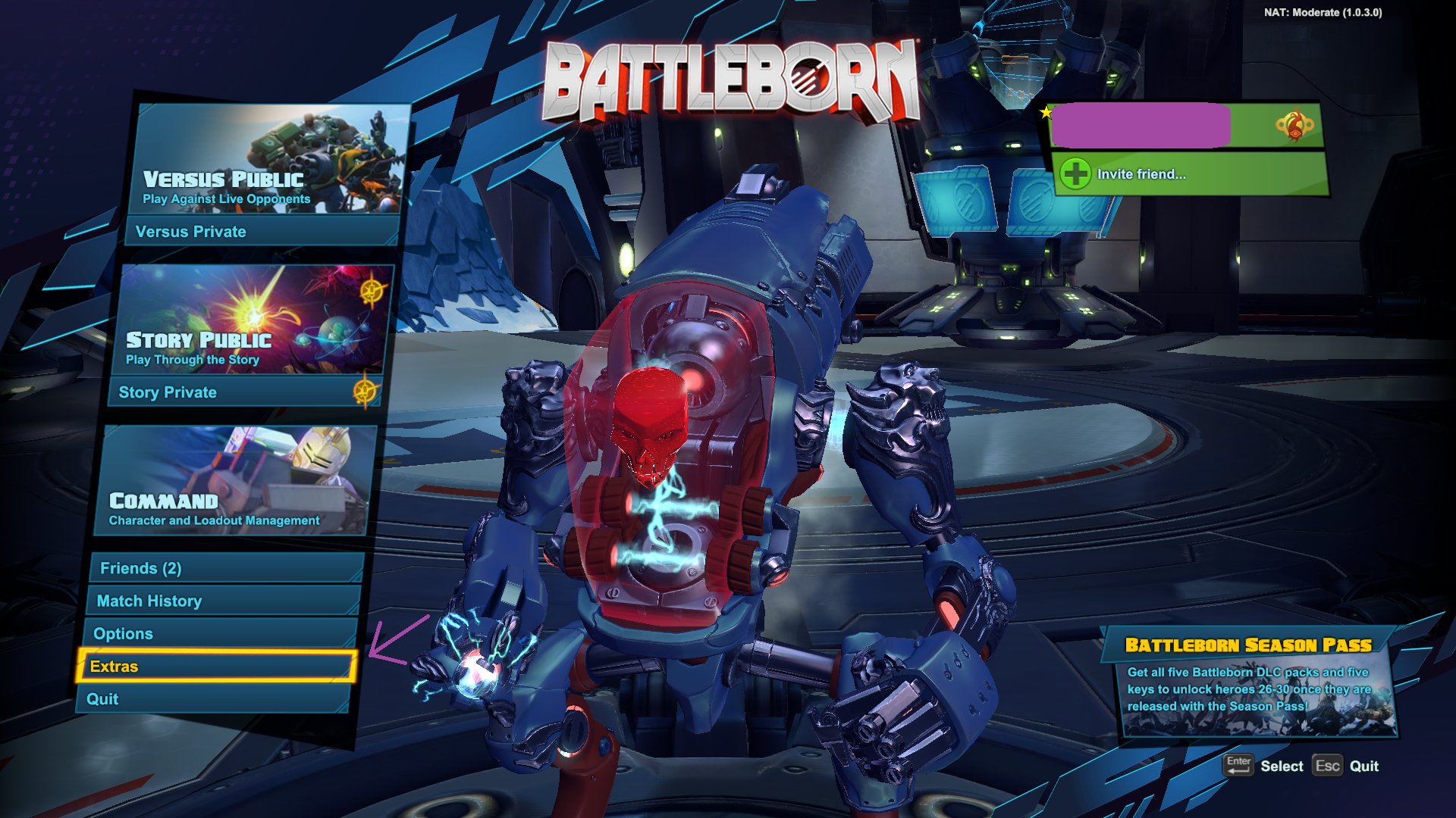 Battleborn  - 230 Platinum Currency - In-Game KEY