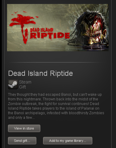 Dead Island Riptide - STEAM Gift - Region Free / ROW