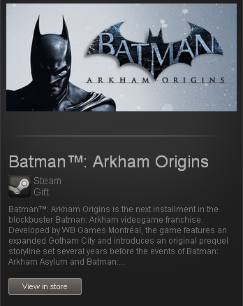 Batman: Arkham Origins - STEAM Gift - Region GLOBAL