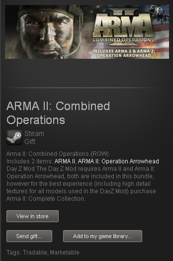 ARMA II Combined Operations + DayZ - STEAM - ROW / free