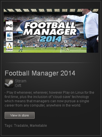 Football Manager 2014 - STEAM Gift / ROW / GLOBAL