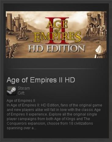 Age of Empires II 2: HD (ROW) - STEAM Gift Region Free