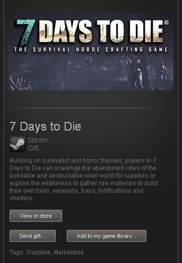 7 Days to Die - STEAM Gift - Region Free / ROW / GLOBAL
