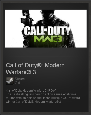 Call of Duty: Modern Warfare 3 - STEAM Gift / GLOBAL