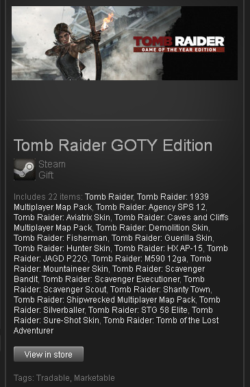 Tomb Raider GOTY Edition (ROW) - STEAM Gift Region Free