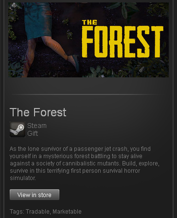 zzzz_The Forest Early Access (ROW) STEAM Gift Reg Free