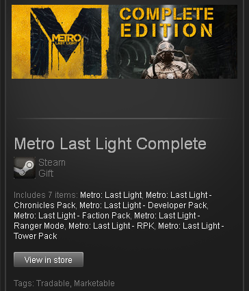 Metro Last Light Complete - STEAM Gift / GLOBAL / ROW