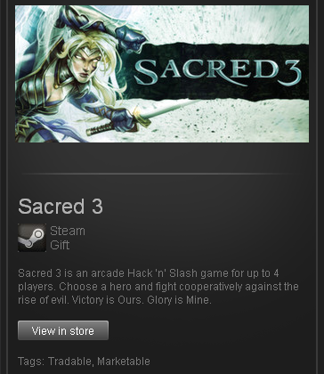 Sacred 3 (ROW) - STEAM Gift Region Free / World Wide